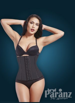 Multi-color double hook closure tummy correcting body shaper new for women in black