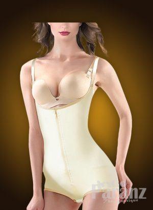 Open-bust style buckle attach strappy sleeve underwear body shaper new