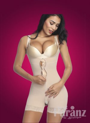 Open-bust style full body shaper with front zipper closure new Mild