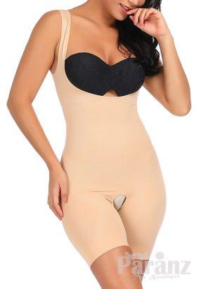 Open-bust style sleeveless full body shaper underwear