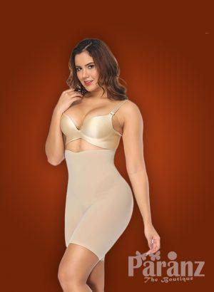 Open bust style small sleeve beige underwear body shaper new khaki