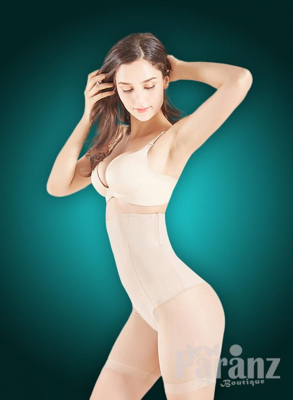 High waist slimming mid-body shaper with perfect compression all over side view