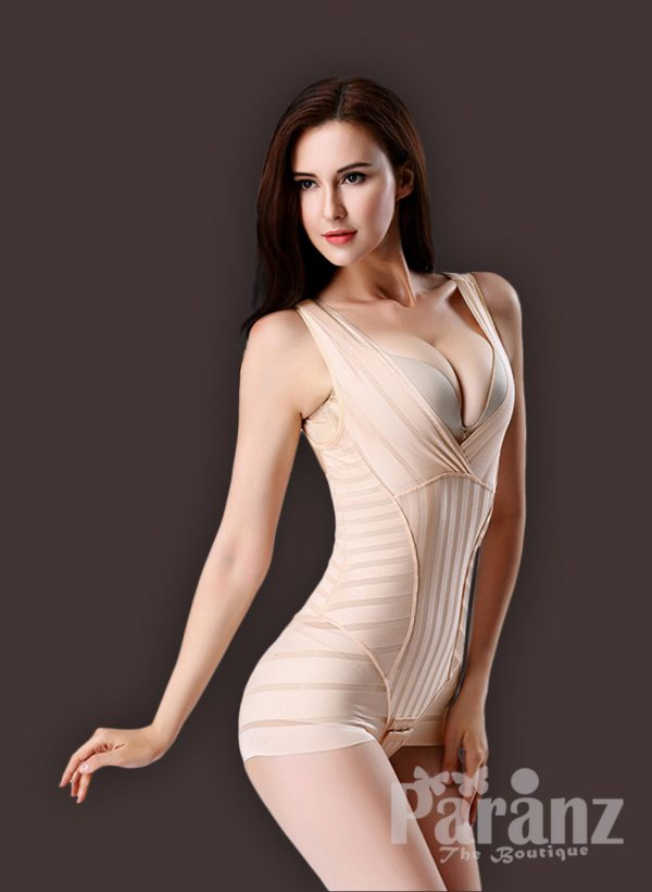 Sleeveless open-bust style high waist slimming underwear body shaper side view
