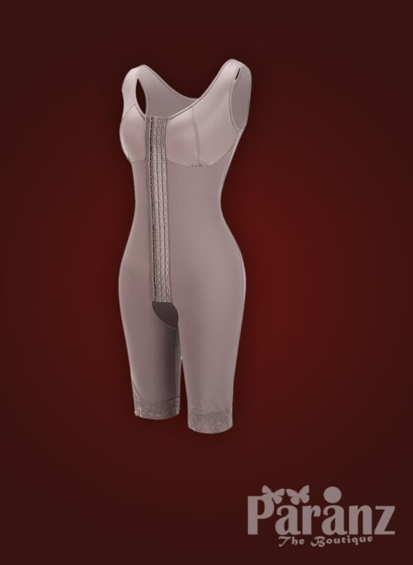 3 row hook closure sleeveless full body shaper with open stall new raw view (3)