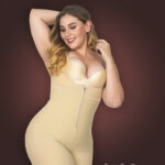 Butt enhancing tummy slimming open bust body shaper with front zipper closure new for women