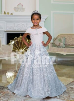 Exclusive sailor bodice elegant baby gown with glitz floor length high volume skirt