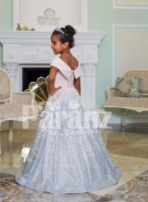 Exclusive sailor bodice elegant baby gown with glitz floor length high volume skirt side view