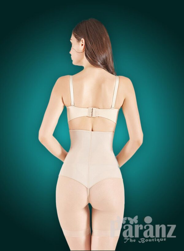 High waist slimming mid-body shaper with perfect compression all over back side view