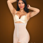 Open-bust style buckle control front hook closure body shaper new