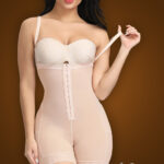 Open-bust style buckle control front hook closure body shaper new view