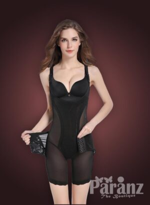 Open-bust style multi layer tummy slimming body shaper new view