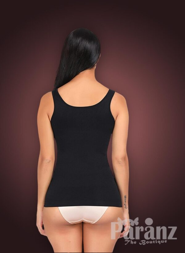 Open-bust style sleeveless high waist slimming black body shaper New side view back side view