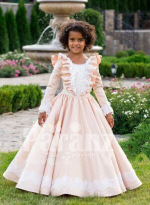 Sailor frill lacework bodice royal summer floor-length baby party gown