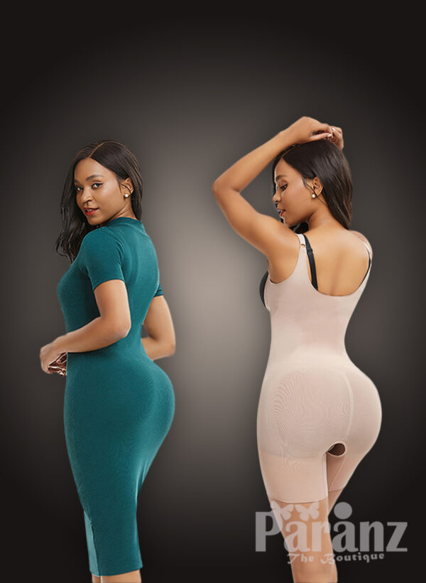 Seamless full body shaper with stunning tummy control and waist lifter new back side view '
