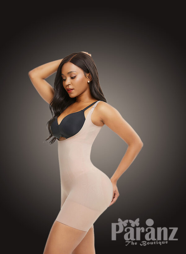 Seamless full body shaper with stunning tummy control and waist lifter new side view