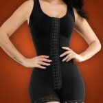 Sleeveless 3 rows front hook closure full body shaper for women