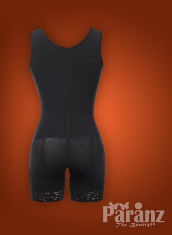 Sleeveless 3 rows front hook closure full body shaper for women raw view (1)