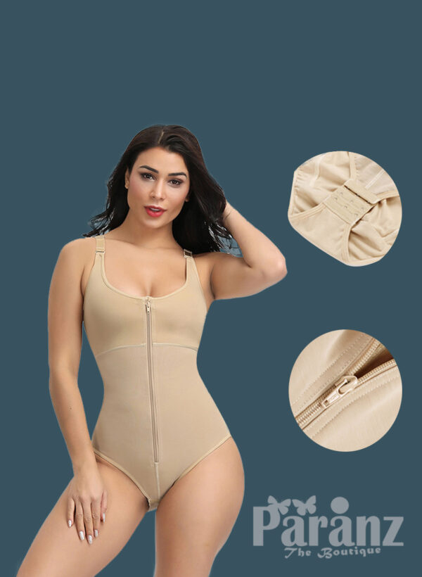 Sleeveless and comfortable front zipper closure underwear body shaper new for women
