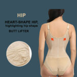 Sleeveless and comfortable front zipper closure underwear body shaper new for women back side view