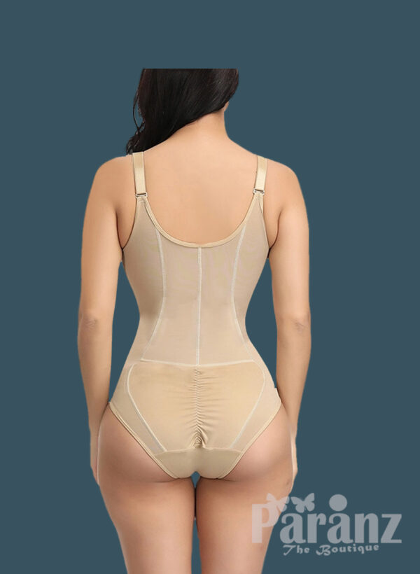 Sleeveless and comfortable front zipper closure underwear body shaper new for women back sideview