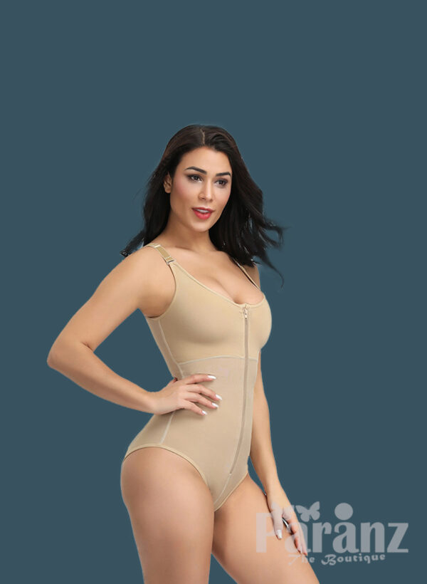 Sleeveless and comfortable front zipper closure underwear body shaper new for women's