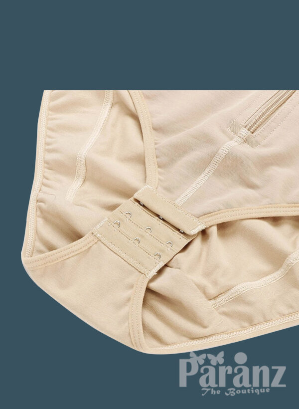 Sleeveless and comfortable front zipper closure underwear body shaper raw view (2)