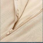 Sleeveless and comfortable front zipper closure underwear body shaper raw views