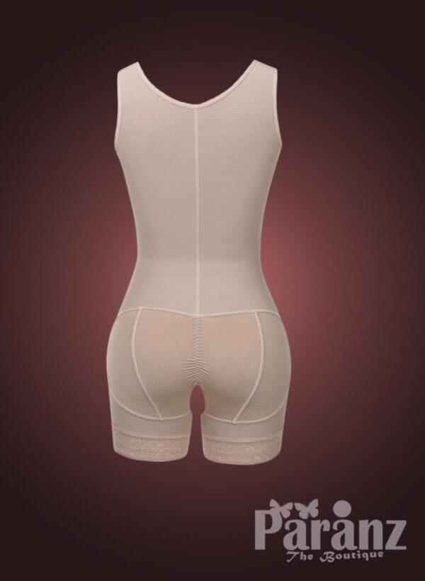 Sleeveless front hook closure custom fit tummy slimming body shaper Raw view (1)
