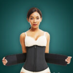 Soft and stretchable waist slimming hourglass shape creating waist cincher