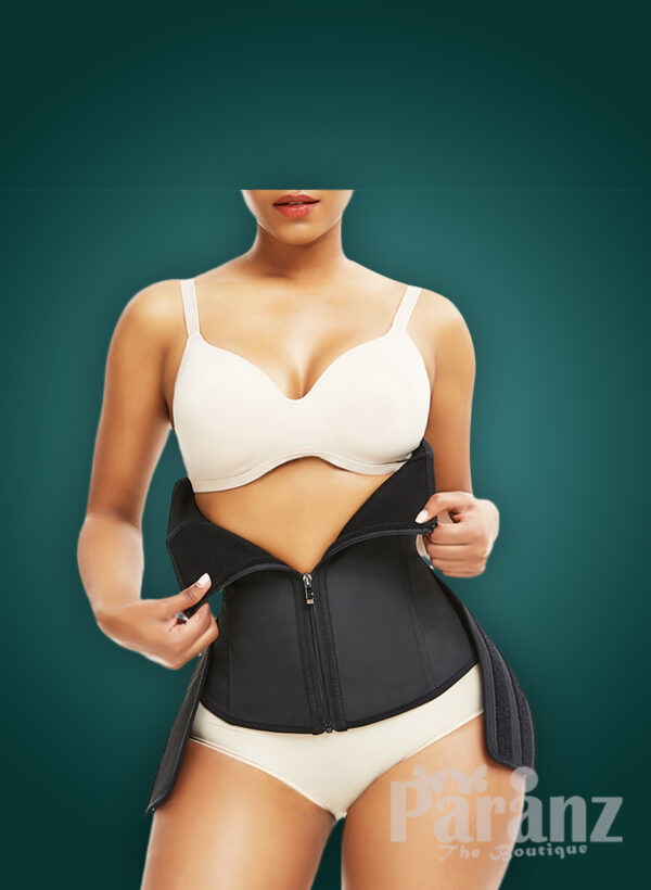Soft & stretchable waist slimming hourglass shape creating waist cincher for womens