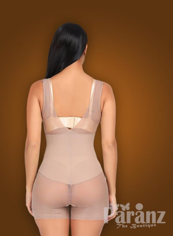 V cut neckline full body shaper with advanced waist slimming new back side view
