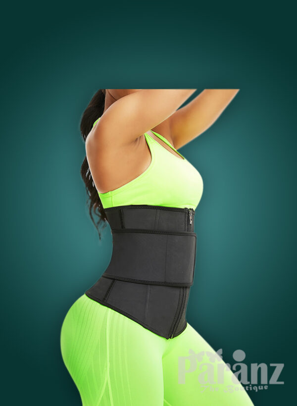 Waist slimming super comfortable hourglass shaper with two type custom closures side view new