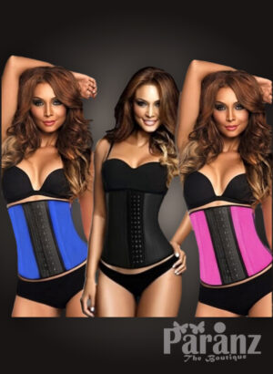 Colorful double hook closure high waist slimming body shaper new