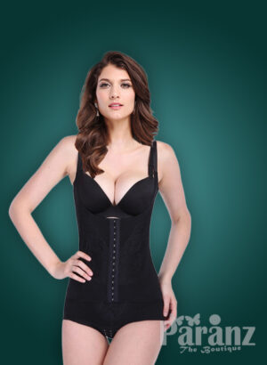 Criss-cross bust-style sleeveless waist correcting body shaper in black new