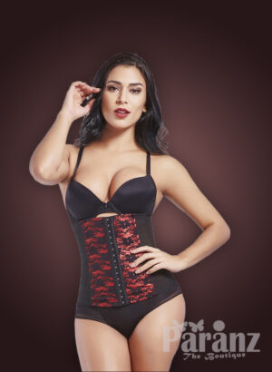 High waist slimming red lace work body shaper new