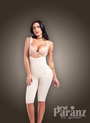 High waist tummy control underwear body shaper in white