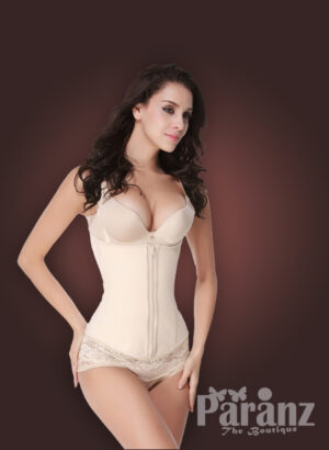 Open-bust style front zipper closure new
