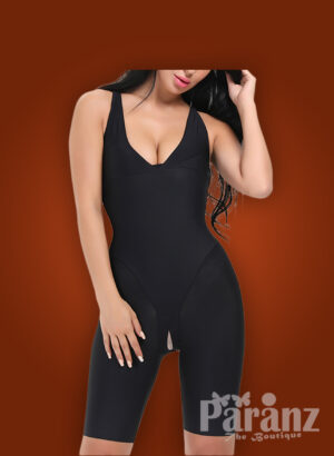 Sleeveless perfect compression full body shaper in black new