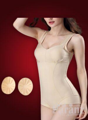 Sleeveless pre cup attach tummy slimming underwear body shaper new