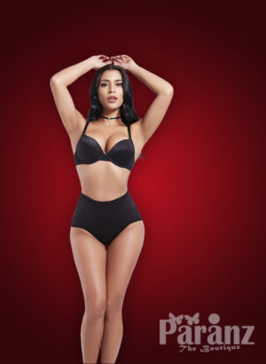 Soft and smooth elasticized fabric low waist underwear body shaper