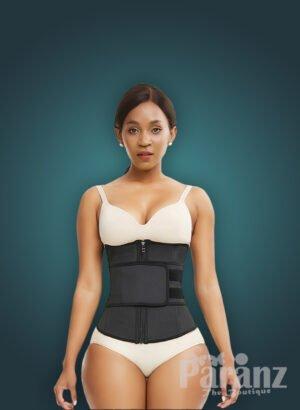 Soft and stretchable waist slimming hourglass shape creating waist cincher