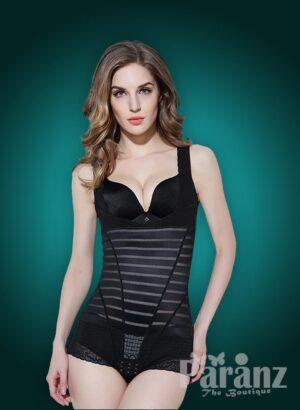 Stylish Sleeveless Open-Bust Style Black Underwear Body Shaper