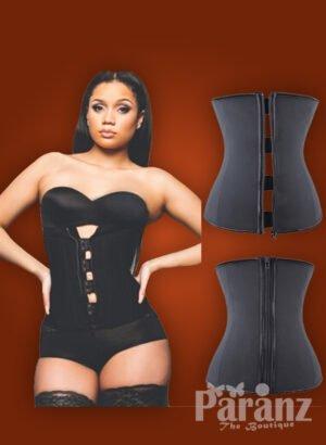 Zipper-hook front closure custom fit perfect compression waist slimmer new