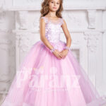 A plush and feminine formal pink dress for little girls
