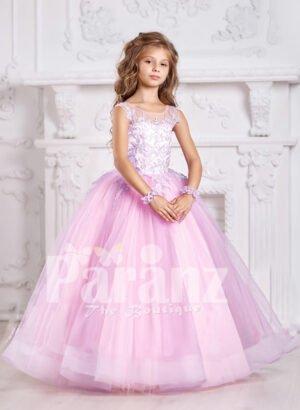 A plush and feminine formal pink dress for little girls