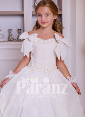 A pristine white dress for little girls for formal parties & events