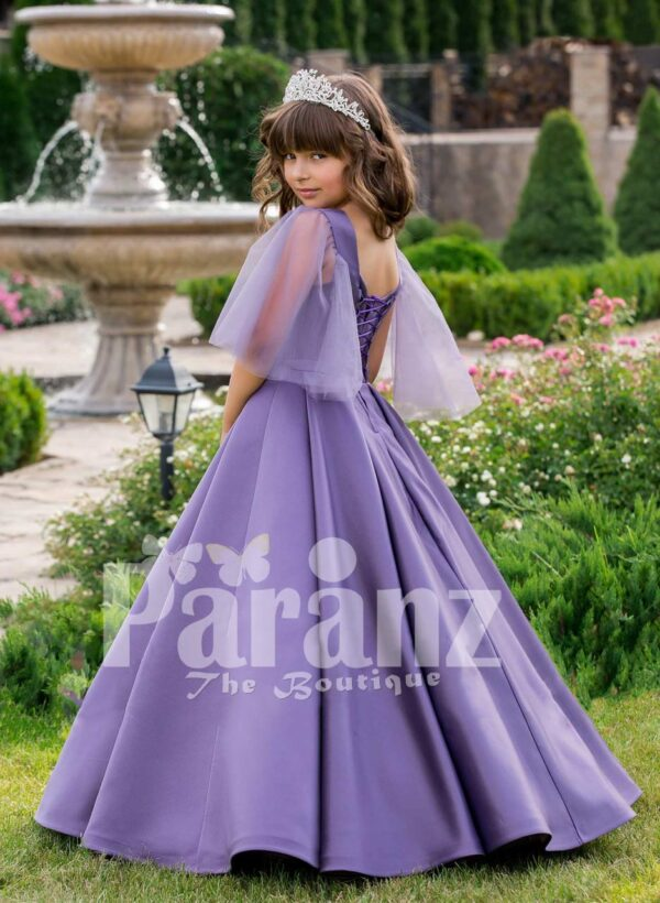 A regal dress for your little daughter to mark any formal gathering side view