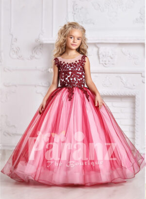 Add liveliness and warmth with this formal party dress for your little dame