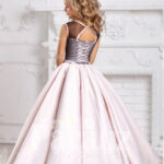 Blending flamboyance with innovative designing in formal dress for little girls back side view