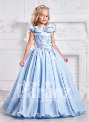 Formal blue dress for little girls to define their sophistication and grace